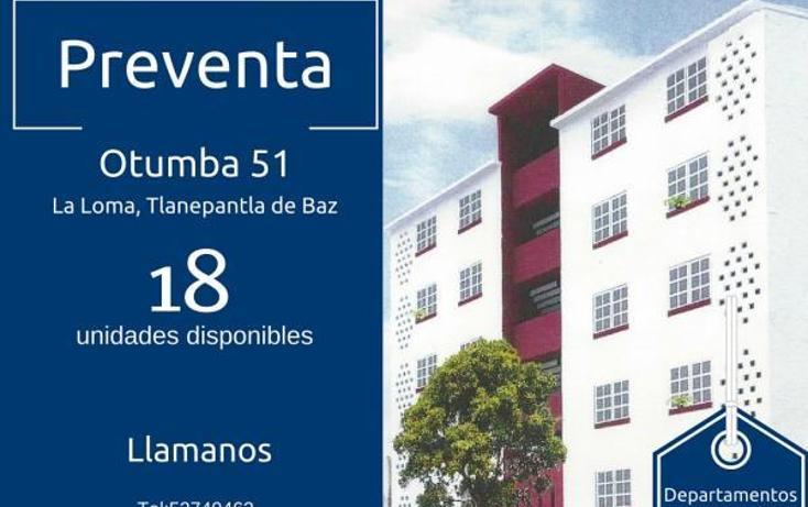 Foto de departamento en venta en otumba numero 51 , tlalnemex, tlalnepantla de baz, méxico, 1959643 No. 01