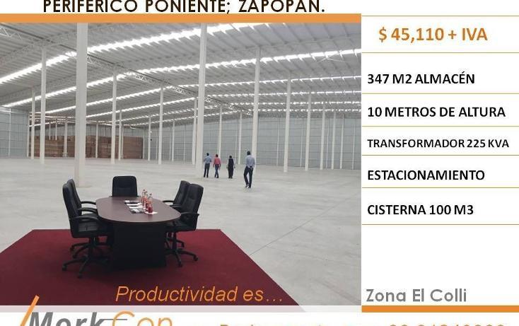 Foto de nave industrial en renta en  , paraísos del colli, zapopan, jalisco, 3425946 No. 01