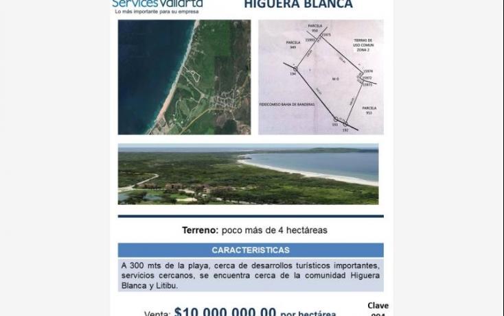 Foto de terreno habitacional en venta en parcela 952, cruz de huanacaxtle, bahía de banderas, nayarit, 562614 no 01