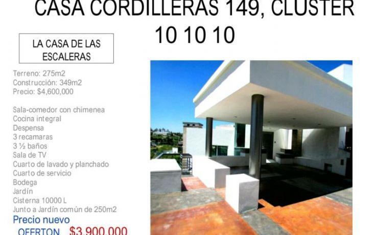 Foto de casa en venta en paseo de las cordilleras 149, san bernardino tlaxcalancingo, san andrés cholula, puebla, 1945834 no 01