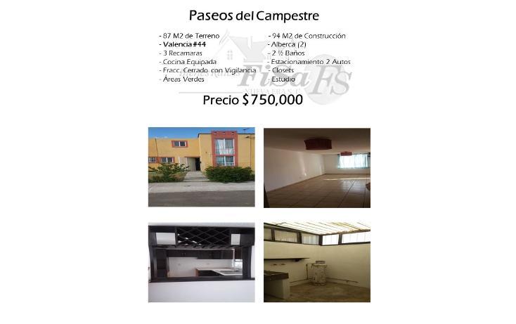 Foto de casa en venta en  , paseos del campestre, san juan del río, querétaro, 1501485 No. 01