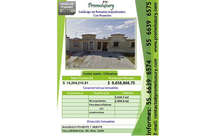 Foto de casa en venta en  , paseos del real, juárez, chihuahua, 1177865 No. 01