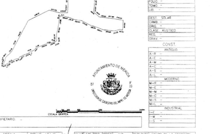 Foto de terreno habitacional en venta en  , petac, mérida, yucatán, 1066659 No. 01