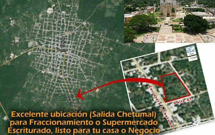 Foto de terreno comercial en venta en  , peto, peto, yucatán, 1131257 No. 01