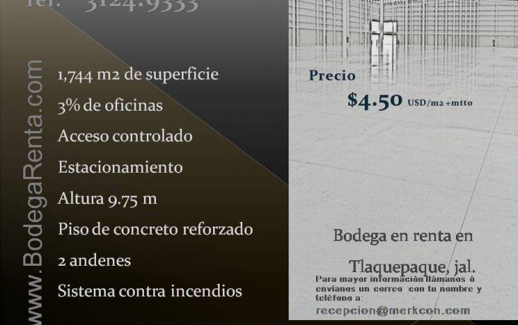 Foto de bodega en renta en, plan de oriente, san pedro tlaquepaque, jalisco, 1821694 no 01