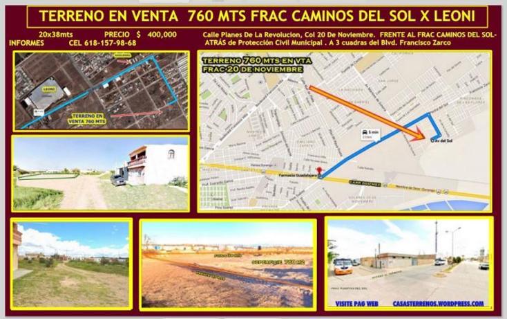 Foto de terreno habitacional en venta en planes de revolucion , 20 de noviembre, durango, durango, 1593200 No. 17