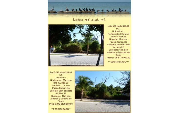 Foto de terreno habitacional en venta en  , playa car fase i, solidaridad, quintana roo, 1172705 No. 02