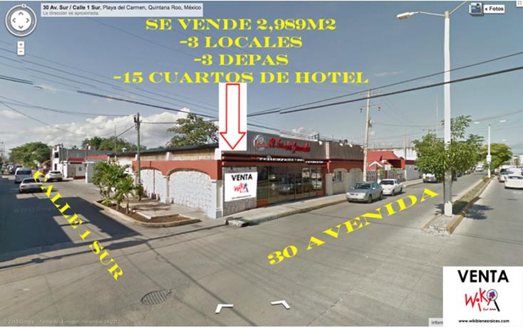 Foto de edificio en venta en  , playa del carmen centro, solidaridad, quintana roo, 1179563 No. 01