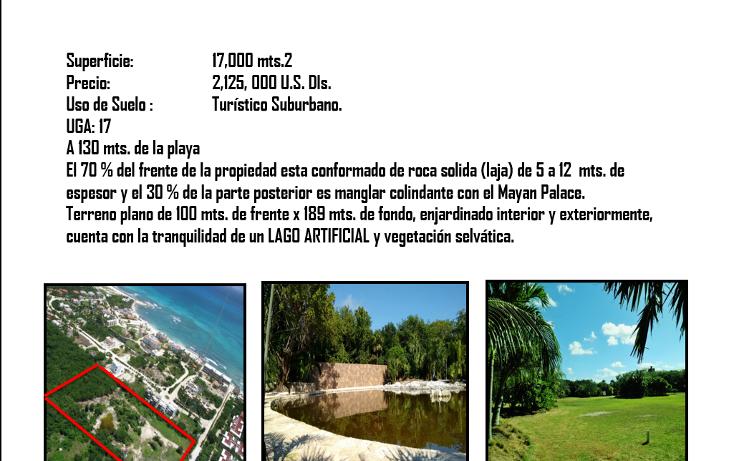 Foto de terreno habitacional en venta en  , playa del carmen centro, solidaridad, quintana roo, 1967683 No. 03