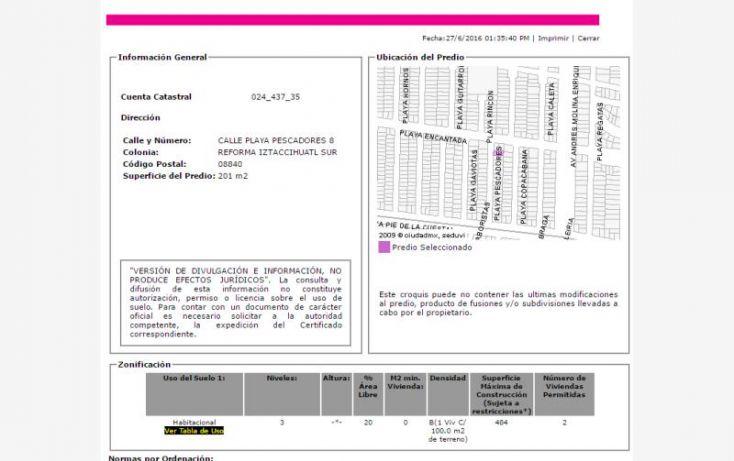 Foto de casa en venta en playa pescadores, reforma iztaccihuatl sur, iztacalco, df, 2028630 no 03