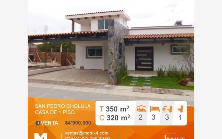 Foto de casa en venta en  , plazuela de san pedro, san pedro cholula, puebla, 2713972 No. 01