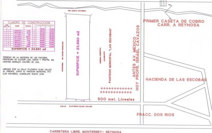 Foto de terreno habitacional en venta en plutarco elias calles 313, libertadores ii, guadalupe, nuevo león, 780161 no 02