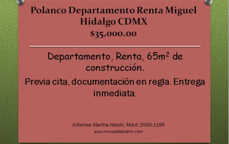 Foto de departamento en renta en, polanco i sección, miguel hidalgo, df, 1454847 no 01