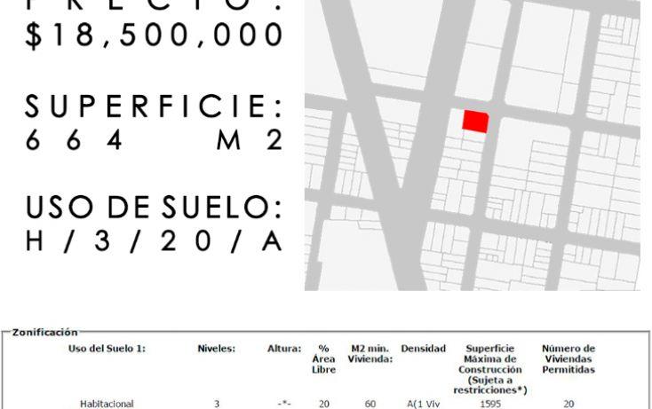 Foto de terreno habitacional en venta en, portales norte, benito juárez, df, 1974134 no 01