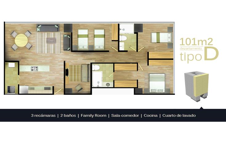 Foto de departamento en venta en  , portales sur, benito juárez, distrito federal, 1190665 No. 04