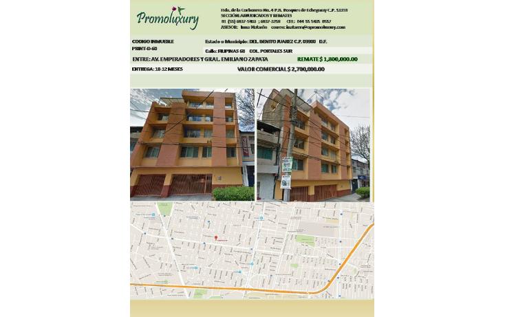 Foto de departamento en venta en  , portales sur, benito juárez, distrito federal, 1232957 No. 01