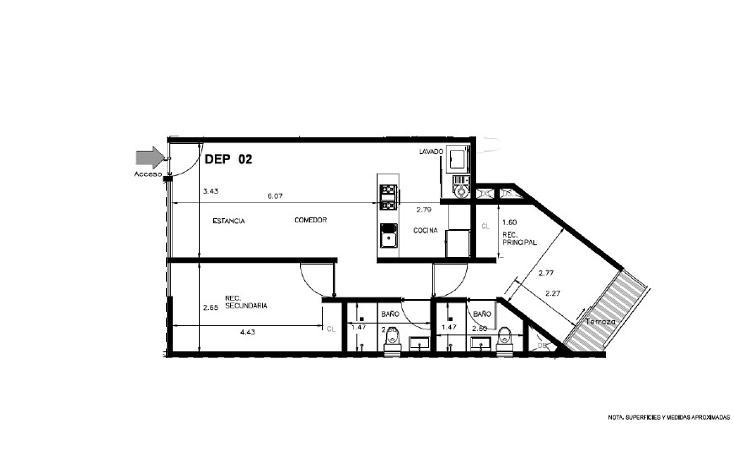 Foto de departamento en venta en  , portales sur, benito juárez, distrito federal, 1320855 No. 06