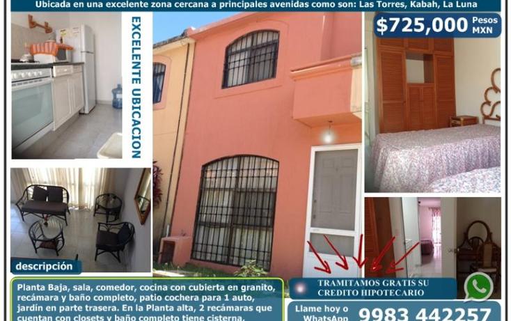 Foto de casa en venta en porto alegre llame 9983-442257, porto alegre, benito juárez, quintana roo, 1850060 No. 01