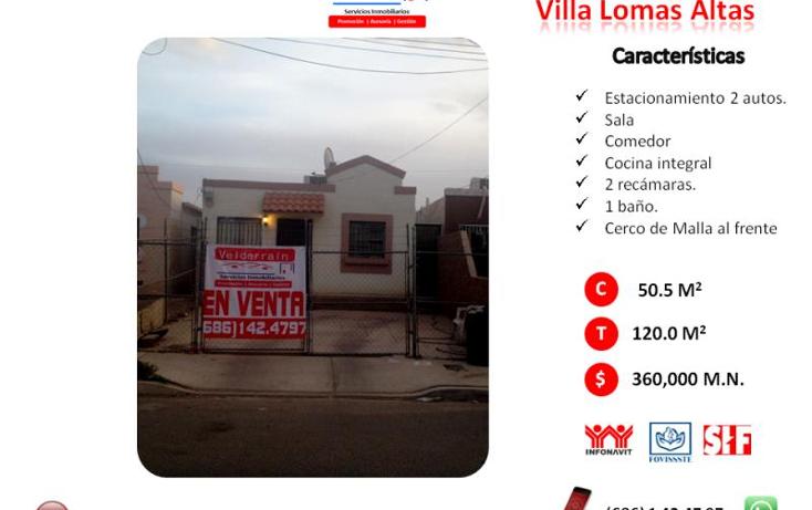 Foto de casa en venta en prado del rey 818, villa las lomas, mexicali, baja california, 1539132 No. 01