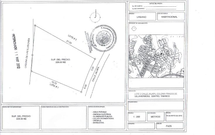 Foto de terreno habitacional en venta en  , prados de villahermosa, centro, tabasco, 1226199 No. 03
