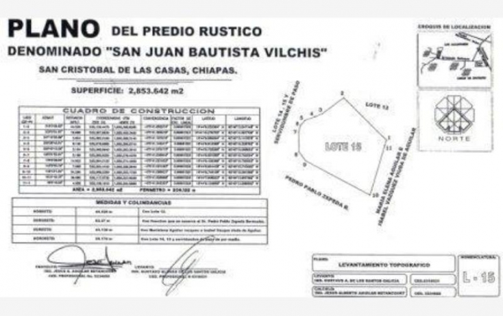 Foto de terreno habitacional en venta en predio rústico san juan bautista vilchis, nueva maravilla, san cristóbal de las casas, chiapas, 413746 no 08