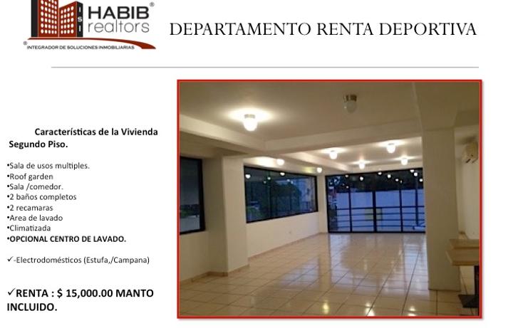 Foto de departamento en renta en  , primero de mayo, centro, tabasco, 1401641 No. 01