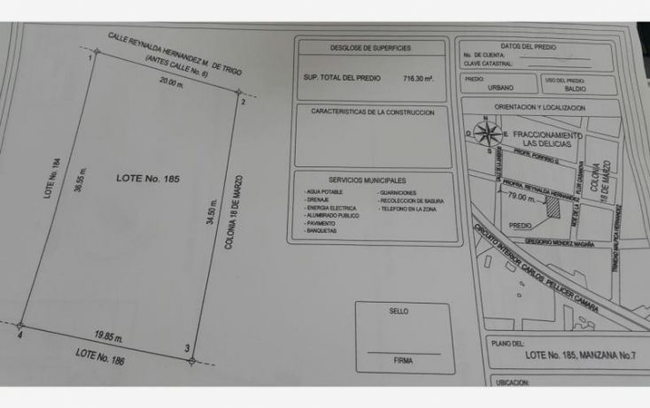 Foto de terreno comercial en venta en profa reynalda hernández, las delicias, centro, tabasco, 1487613 no 10