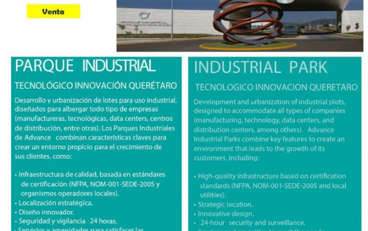 Foto de terreno industrial en venta en ptiq  advance, la noria, el marqués, querétaro, 754237 no 01