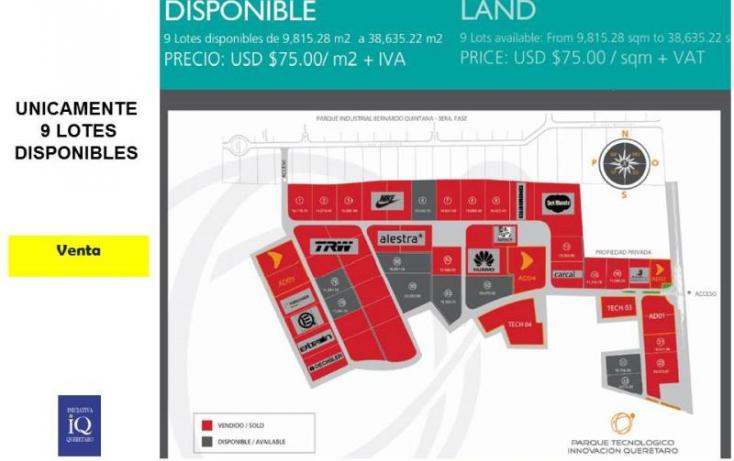 Foto de terreno industrial en venta en ptiq  advance, la noria, el marqués, querétaro, 754237 no 03