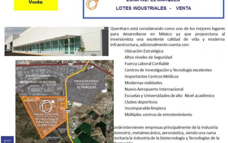 Foto de terreno industrial en venta en ptiq  advance, la noria, el marqués, querétaro, 754237 no 04