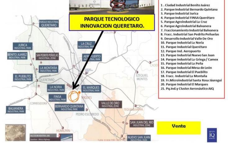 Foto de terreno industrial en venta en ptiq  advance, la noria, el marqués, querétaro, 754237 no 05