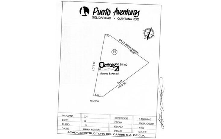 Foto de terreno habitacional en venta en  , puerto aventuras, solidaridad, quintana roo, 1047951 No. 03