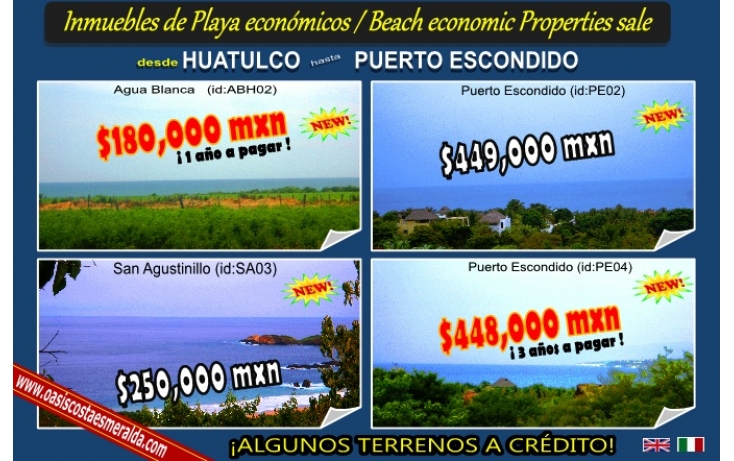 Foto de terreno habitacional en venta en puerto escondido, bacocho, san pedro mixtepec dto 22, oaxaca, 568923 no 01