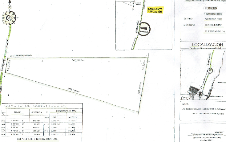 Foto de terreno comercial en venta en  , puerto morelos, benito juárez, quintana roo, 1138125 No. 03