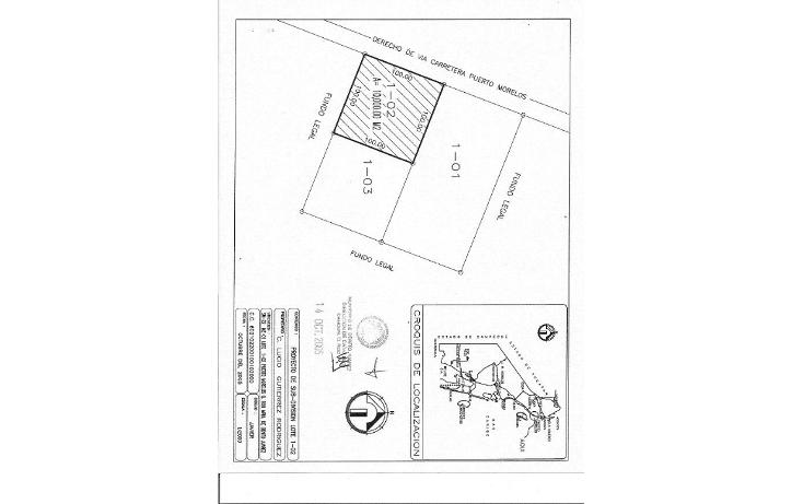 Foto de terreno comercial en venta en  , puerto morelos, benito juárez, quintana roo, 1165471 No. 04