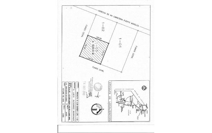 Foto de terreno comercial en venta en  , puerto morelos, benito juárez, quintana roo, 1165471 No. 05