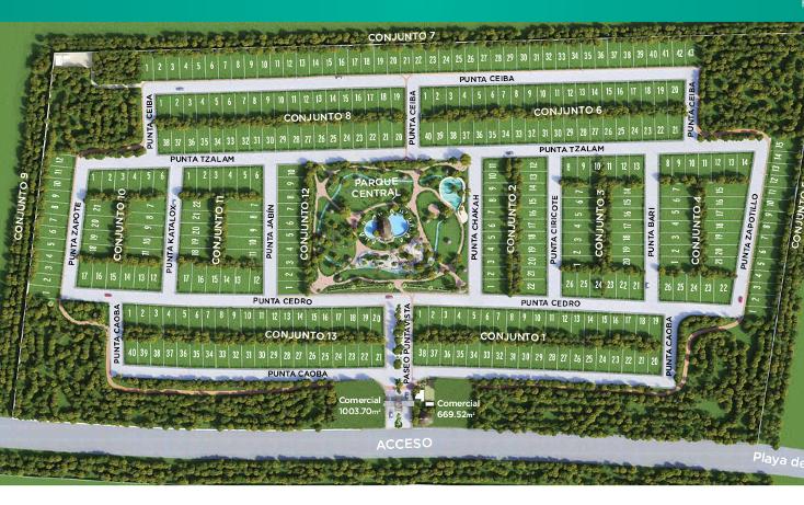 Foto de terreno habitacional en venta en  , puerto morelos, benito juárez, quintana roo, 3424654 No. 02