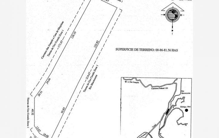 Foto de terreno habitacional en venta en querétaro culata san joaquin, querétaro, los martínez, cadereyta de montes, querétaro, 1944312 no 08