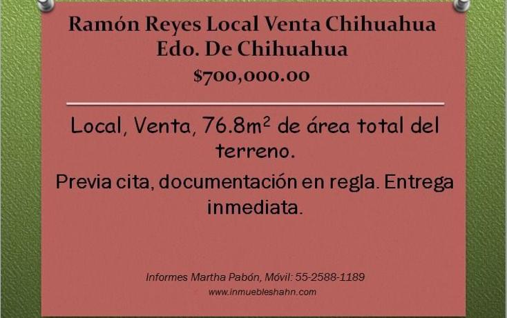 Foto de local en venta en  , ramón reyes, chihuahua, chihuahua, 1678674 No. 01