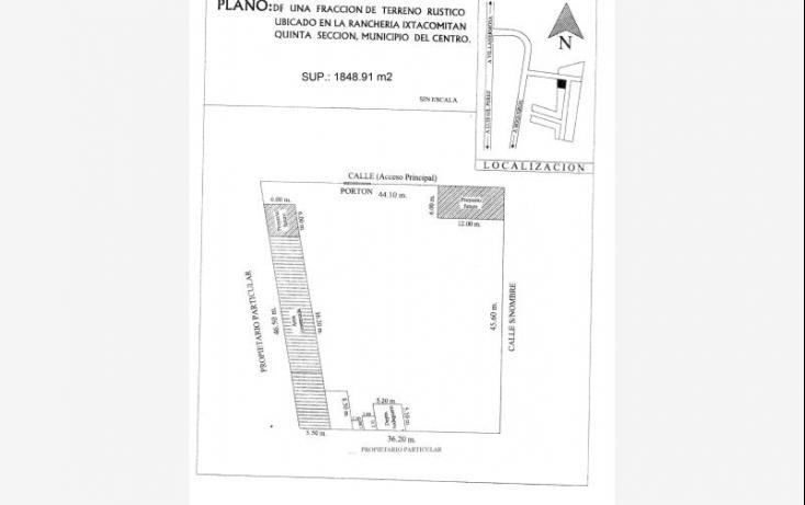 Foto de terreno habitacional en venta en ranchería itacomitan 5ta sección, pablo l sidar, centro, tabasco, 628295 no 08