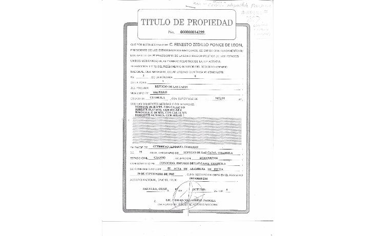 Foto de terreno comercial en venta en  , rancho nuevo, saltillo, coahuila de zaragoza, 1466023 No. 02