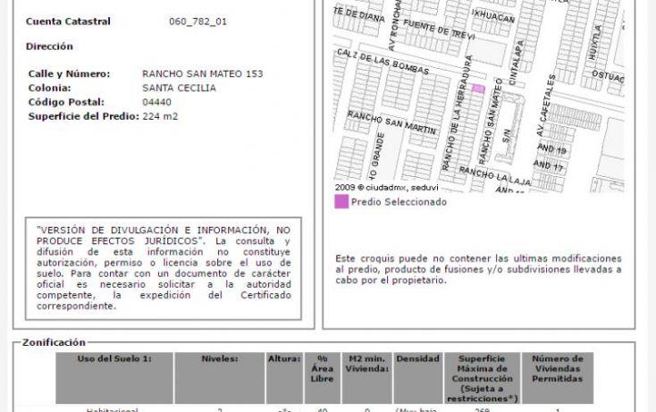 Foto de casa en venta en rancho san mateo, santa cecilia, coyoacán, df, 2010640 no 02