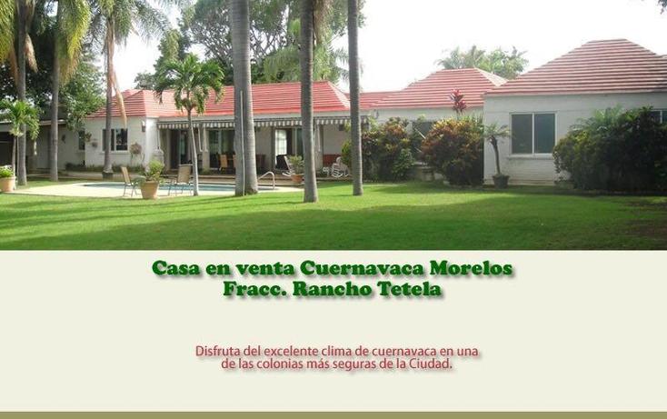 Foto de casa en venta en  ., rancho tetela, cuernavaca, morelos, 2025104 No. 01