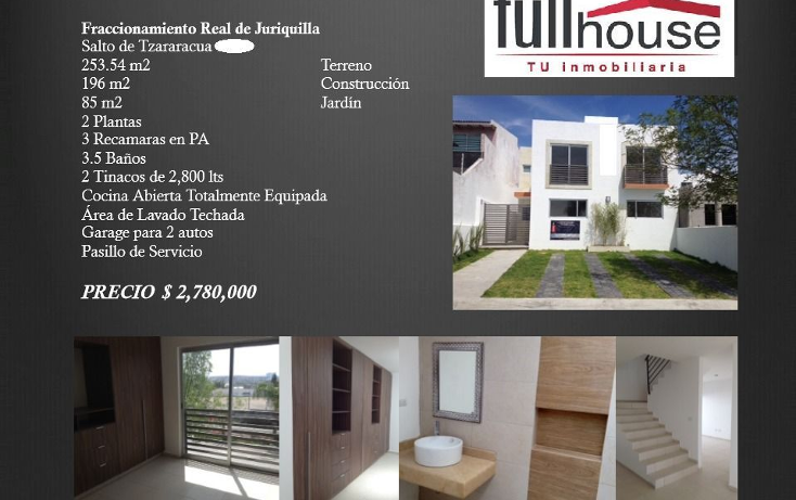 Foto de casa en venta en  , real de juriquilla, querétaro, querétaro, 1281297 No. 01