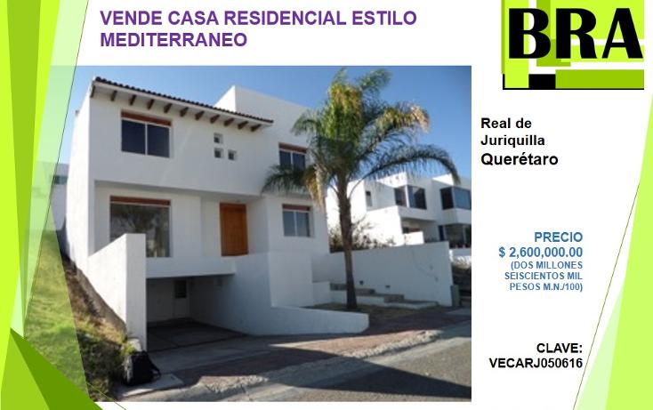 Foto de casa en venta en  , real de juriquilla, querétaro, querétaro, 1983026 No. 01