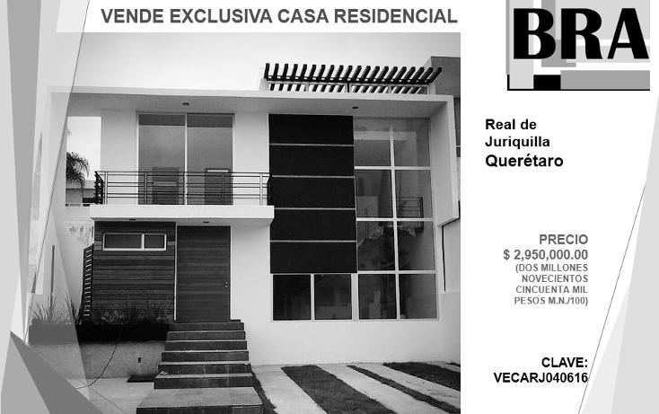 Foto de casa en venta en  , real de juriquilla, querétaro, querétaro, 1983032 No. 01