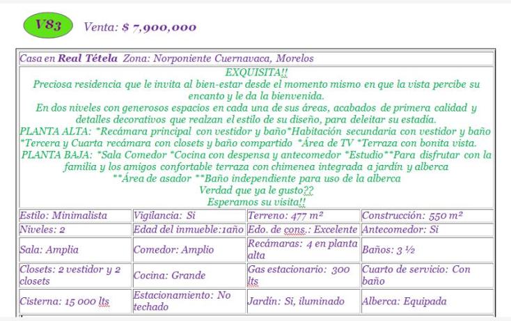 Foto de casa en venta en  , real de tetela, cuernavaca, morelos, 1338273 No. 02