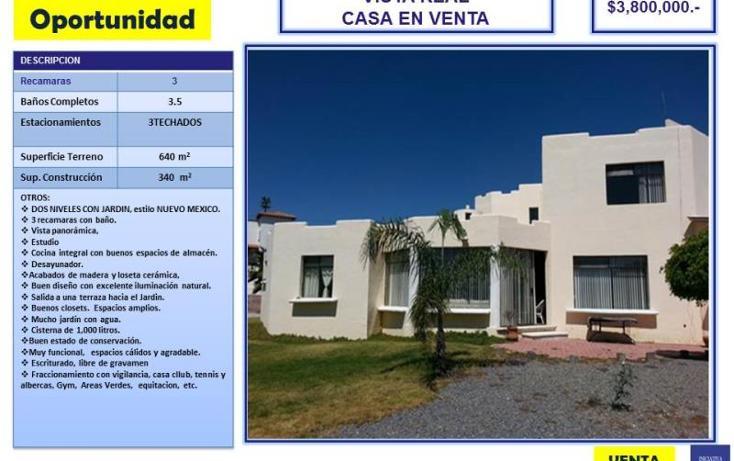 Foto de casa en venta en real del milagro 1, balcones de vista real, corregidora, querétaro, 1798458 No. 01