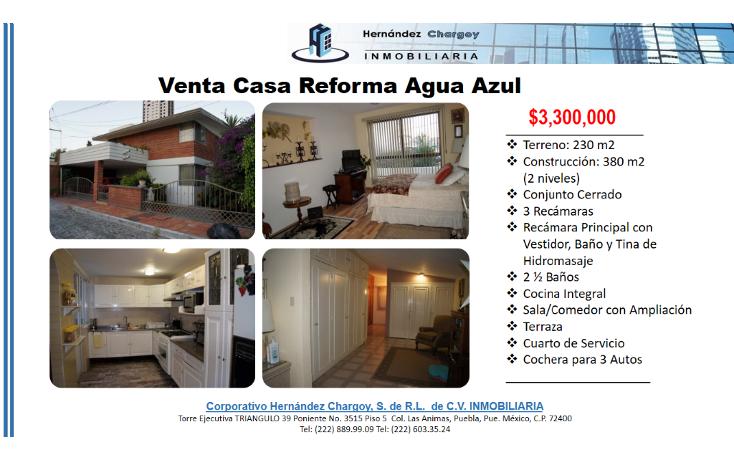 Foto de casa en venta en  , reforma agua azul, puebla, puebla, 1678808 No. 02