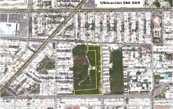 Foto de terreno comercial en venta en  , región 504, benito juárez, quintana roo, 1321093 No. 02